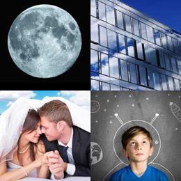 4 fotos 1 palavra 3 letras solução LUA