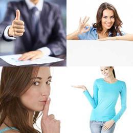 4 fotos 1 palavra 6 letras solução GESTOS