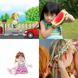 4 fotos 1 palavra 6 letras solução MENINA