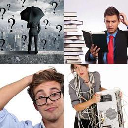 4 fotos 1 palavra 7 letras solução CONFUSO