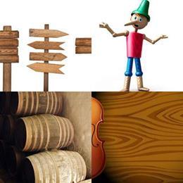 4 fotos 1 palavra 7 letras solução MADEIRA